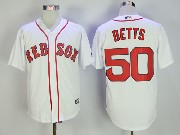 Mens Mlb Boston Red Sox #50 Mookle Bett White Cool Base Jersey