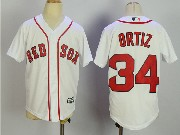 Youth Mlb Boston Red Sox #34 David Ortiz White Cool Base Jersey