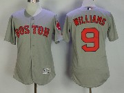 Mens Majestic Boston Red Sox #9 Ted Williams Grey Flex Base Jersey