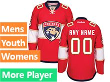 Reebok Florida Panthers Red Home 2016 Premier Jersey