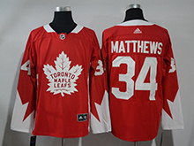 Mens Adidas Nhl Toronto Maple Leafs #34 Auston Matthews Red Hockey Jersey