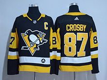 Mens Adidas Nhl Pittsburgh Penguins #87 Sidney Crosby Black Premier Player Jersey