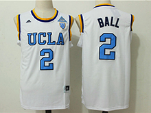 Mens Ncaa Nba Ucla Bruins #2 Lonzo Ball White College Basketball Authentic Jersey