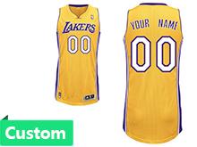 Nba Los Angeles Lakers (custom Made) Gold Swingman Mesh Jersey