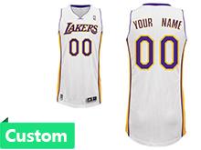 Mens Womens Youth Nba Los Angeles Lakers (custom Made) White Swingman Mesh Jersey