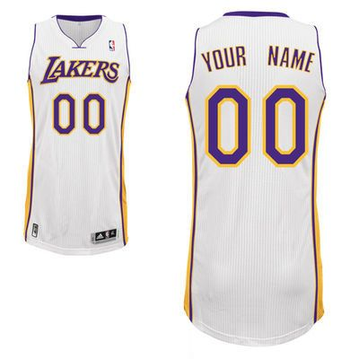 Mens Womens Youth Nba Los Angeles Lakers (custom Made) White Swingman Mesh Jersey