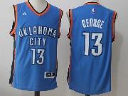 Mens Nba Oklahoma City Thunder #13 James Harden Blue Road Jersey
