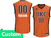 Mens Women Youth Nba Oklahoma City Thunder Custom Made Roange Climacool Alternate Jersey
