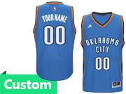 Mens Women Youth Nba Oklahoma City Thunder Custom Made Blue Road Jersey