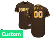 Mens Majestic Mlb San Diego Padres Custom Made Brown Flex Base Jersey