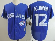 Mens Mitchell&ness Mlb Toronto Blue Jays #12 Roberto Alomar Blue Throwbacks Jersey
