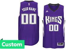 Mens Women Youth Nba Sacramento Kings (custom Made) Purple Swingman Jersey