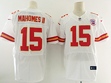 Mens Nfl Kansas City Chiefs #15 Patrick Mahomes Ii White Elite Jersey