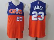 Mens Nike Nba Cleveland Cavaliers #23 Lebron James Cavs Blue & Orange Jersey