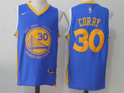 Mens Nike Golden State Warriors #30 Stephen Curry Blue Jersey