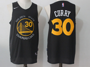 Mens Nba Golden State Warriors #30 Stephen Curry Black Nike Jersey