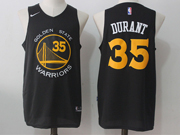 Mens Nba Golden State Warriors #35 Kevin Durant Black Nike Jersey