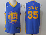 Mens Nike Golden State Warriors #35 Kevin Durant Blue Jersey