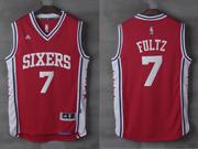 Mens Nba Philadelphia 76ers #7 Markelle Fultz Alternate Red Jersey