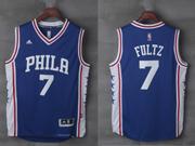 Mens Nba Philadelphia 76ers #7 Markelle Fultz Road Blue Jersey