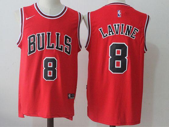 Mens Nba Chicago Bulls #8 Zach Lavine Bulls Red Nike Jersey