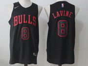 Mens Nba Chicago Bulls #8 Zach Lavine Bulls Black Nike Jersey