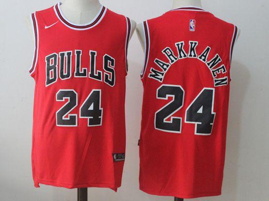 Mens Nba Chicago Bulls #24 Lauri Markkanen Bulls Red Nike Jersey