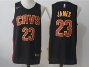 Mens Nba Cleveland Cavaliers #23 Lebron James Cavs Dark Blue Nike Jersey