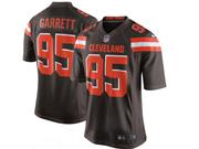 Mens Nfl Cleveland Browns #95 Bobby Garrett Brown Game Jersey