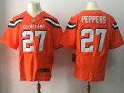 Mens Nfl Cleveland Browns #27 Jabrill Peppers Orange Elite Jersey