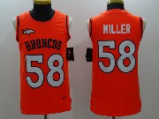 Mens Nfl Denver Broncos #58 Von Miller Orange Color Rush Tank Top Jersey