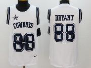 Mens Dallas Cowboys #88 Dez Bryant White Color Rush Tank Top Jersey