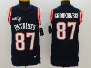 Mens New England Patriots #87 Rob Gronkowski Blue Color Rush Tank Top Jersey