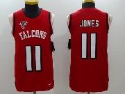 Mens Nfl Atlanta Falcons #11 Julio Jones Red Color Rush Tank Top Jersey