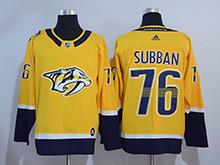Mens Adidas Nhl Nashville Predators #76 P. K. Subban Gold Jersey