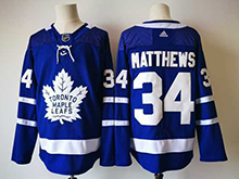 Mens Nhl Toronto Maple Leafs #34 Auston Matthews Blue Hockey Adidas Jersey