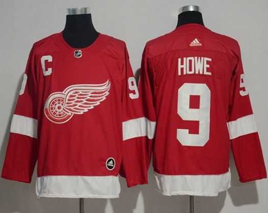 Mens Adidas Nhl Detroit Red Wings #9 Howe Red Jersey