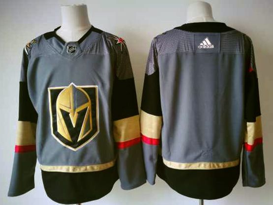 Mens Adidas Vegas Golden Knights Blank Gray Hockey Jersey