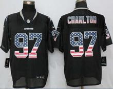 Mens Nfl Dallas Cowboys #97 Taco Charlton Black Usa Flag Fashion Elite Jerseys