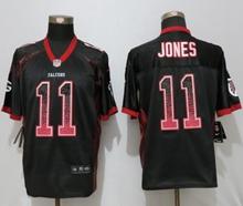 Mens Nfl Nike Atlanta Falcons #11 Julio Jones Black Drift Fashion Elite Jerseys