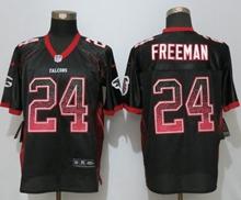Mens Nfl Nike Atlanta Falcons #24 Devonta Freeman Black Drift Fashion Elite Jerseys