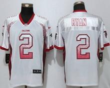 Mens Nfl Nike Atlanta Falcons #2 Matt Ryan White Drift Fashion Elite Jerseys