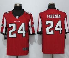 Mens New Nike Atlanta Falcons #24 Devonta Freeman Red Limited Jersey