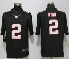 Mens New Nike Atlanta Falcons #2 Matt Ryan Black Limited Jersey