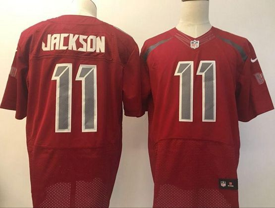 Mens Nfl Tampa Bay Buccaneers #11 Desean Jackson Red Elite Jersey(new Style)