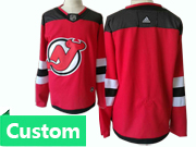 Mens Adidas Nhl New Jersey Devils Custom Made Red Home Jersey