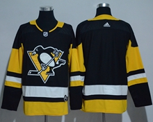 Mens Adidas Nhl Pittsburgh Penguins Blank Black Jersey