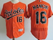 Mens Majestic Baltimore Orioles #16 Trey Mancini Orange Flex Base Jersey