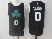 Mens Nba Boston Celtics #0 Jayson Tatum Black Flower Logo Nike Jersey