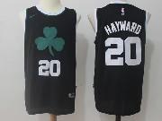 Mens Nba Boston Celtics #20 Gordon Hayward Black Flower Logo Nike Jersey